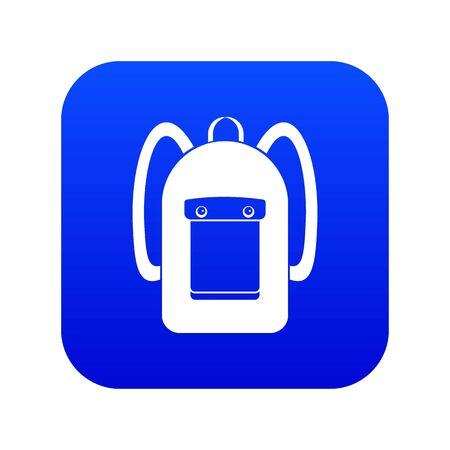 Backpack icon digital blue