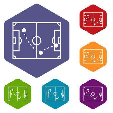 Football strategy icon. Simple illustration of football strategy vector icon for web