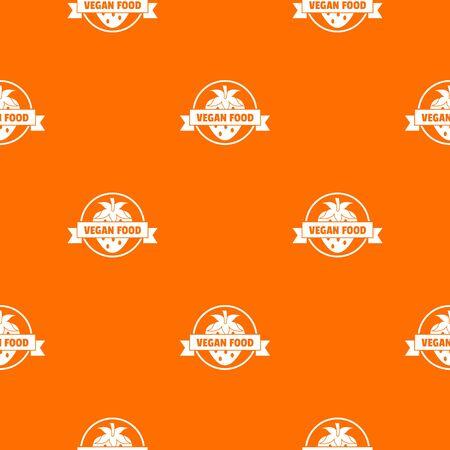 Strawberry pattern vector orange