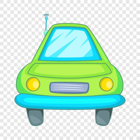 Car with wifi sign i icon, cartoon style Illustration