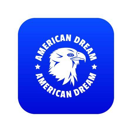 American dream eagle icon blue vector