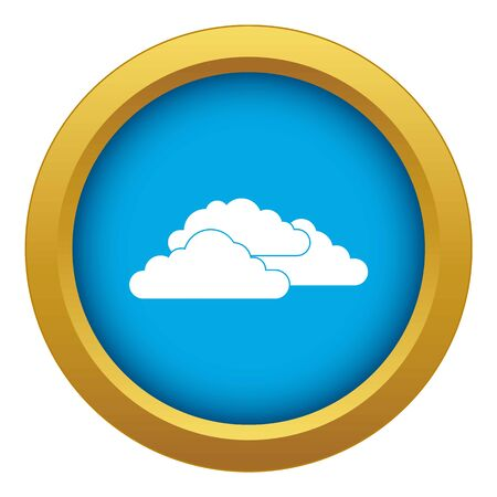 Clouds icon blue vector isolated on white background for any design