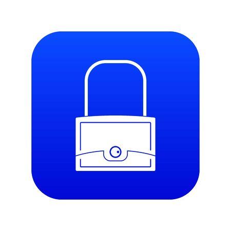 Little bag icon digital blue