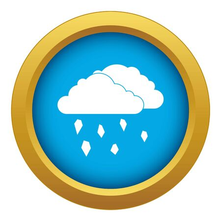 Clouds and hail icon blue vector isolated on white background for any design
