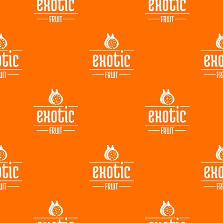 Exotic fruit pattern vector orange