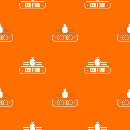 Eco food pattern vector orange