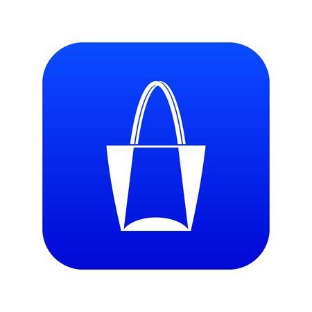 Big bag icon digital blue