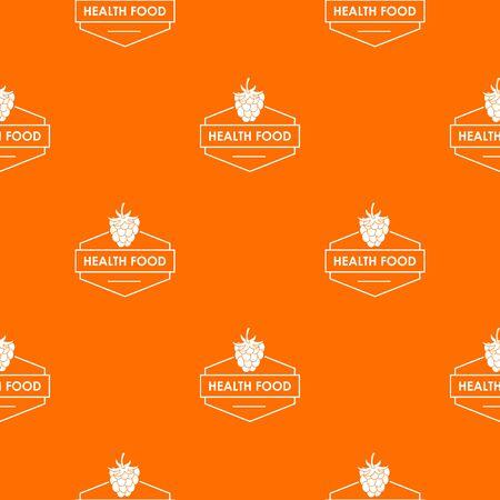 Raspberry pattern vector orange