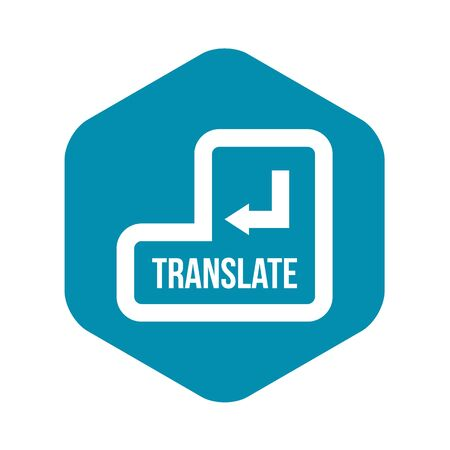 Translate button icon, simple style