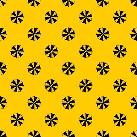 Striped umbrella pattern seamless vector repeat geometric yellow for any design Иллюстрация