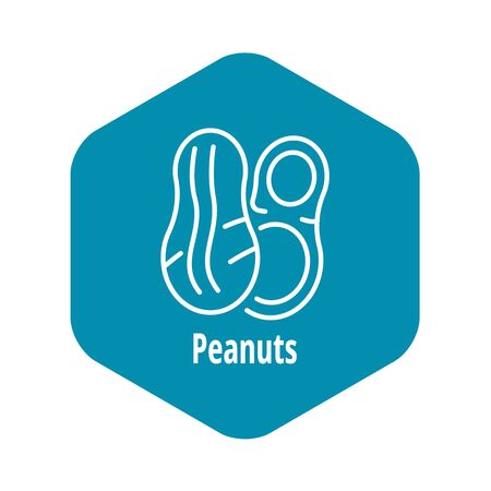 Peanuts icon, outline style