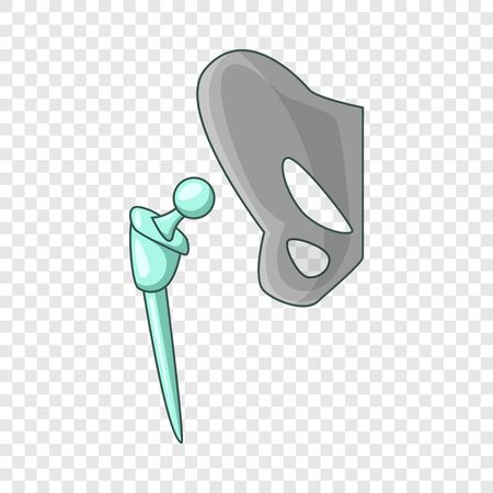 Artificial hip joint icon. Cartoon illustration of artificial hip joint vector icon for web Illustration
