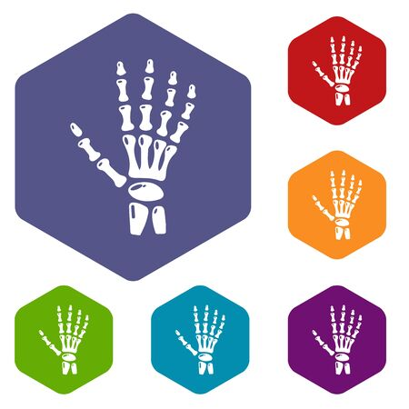 Inflammation of hand icon, simple style. Illustration