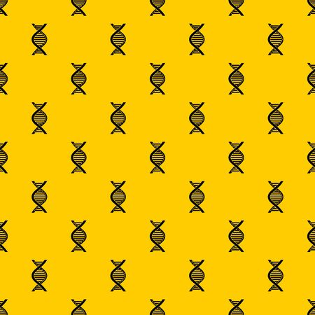 DNA strand pattern seamless vector repeat geometric yellow for any design Imagens - 130246590