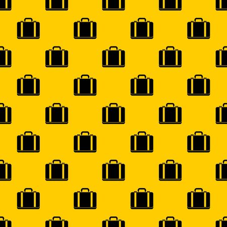 Suitcase pattern seamless vector repeat geometric yellow for any design