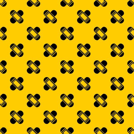 Medical patch pattern seamless vector repeat geometric yellow for any design