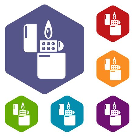 Lighter icon. Simple illustration of lighter vector icon for web