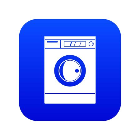 Washing machine icon digital blue for any design isolated on white vector illustration