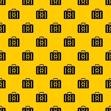 First aid kit pattern seamless vector repeat geometric yellow for any design