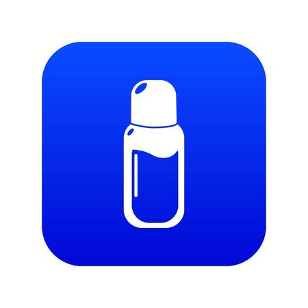 Perfume bottle icon blue vector isolated on white background