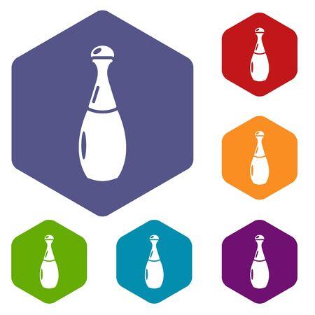 Perfume bottle lavender icon. Simple illustration of perfume bottle lavender vector icon for web Ilustração
