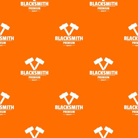 Premium blacksmith pattern vector orange for any web design best