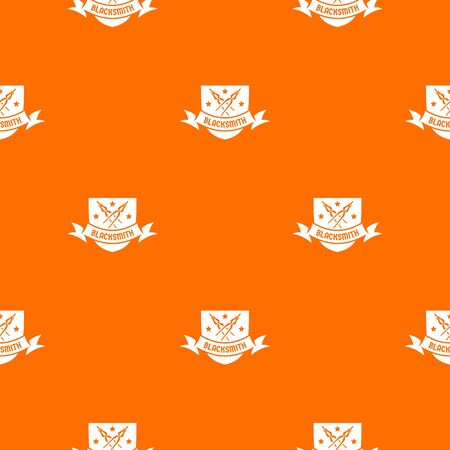 Ironwork pattern vector orange for any web design best
