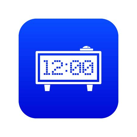 Alarm clock icon digital blue for any design isolated on white vector illustration