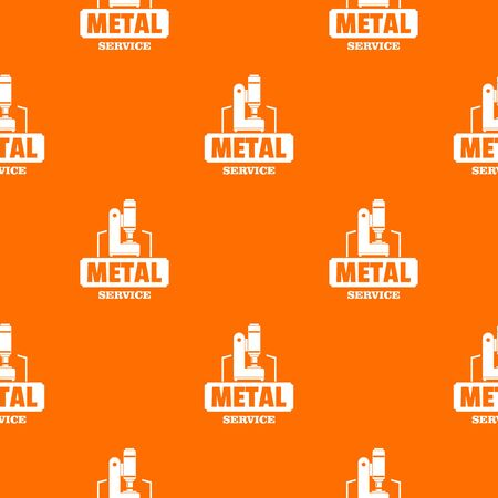 Metal service pattern vector orange for any web design best