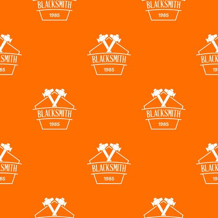 Hammer blacksmith pattern vector orange for any web design best