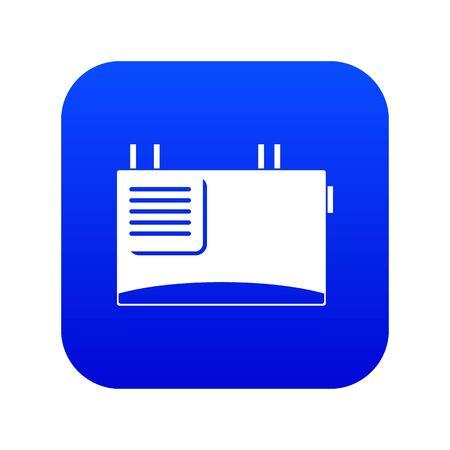 Icône de routeur mural bleu numérique pour toute conception isolée sur illustration vectorielle blanc