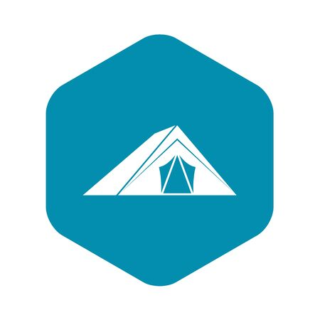 Tent icon in simple style on a white background vector illustration