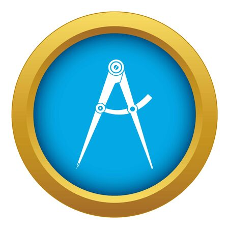 Compass tool icon blue vector isolated on white background for any design Illustration
