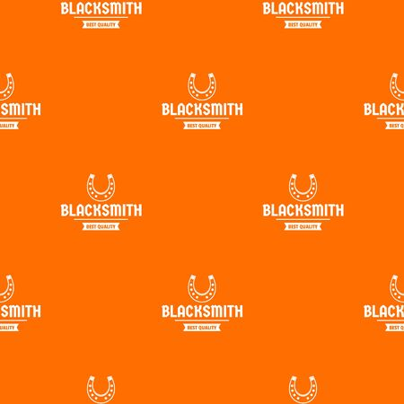 Shop blacksmith pattern vector orange for any web design best Illustration