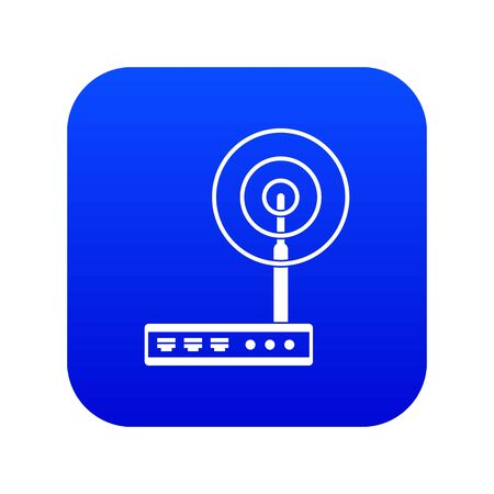 Wifi router icon digital blue for any design isolated on white vector illustration Vektorové ilustrace