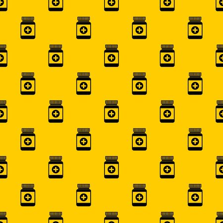 Medicine bottle pattern seamless vector repeat geometric yellow for any design