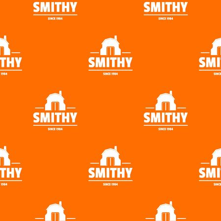 Smithy pattern vector orange for any web design best