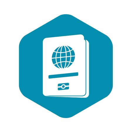 Passport icon in simple style on a white background vector illustration