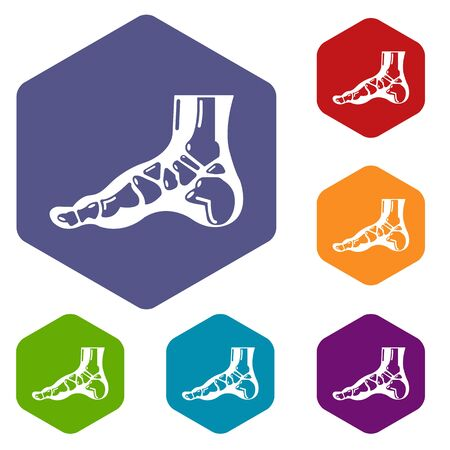 Xray of foot icon. Simple illustration of xray of foot vector icon for web. Illustration