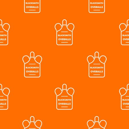 Overalls blacksmith pattern vector orange for any web design best Illustration