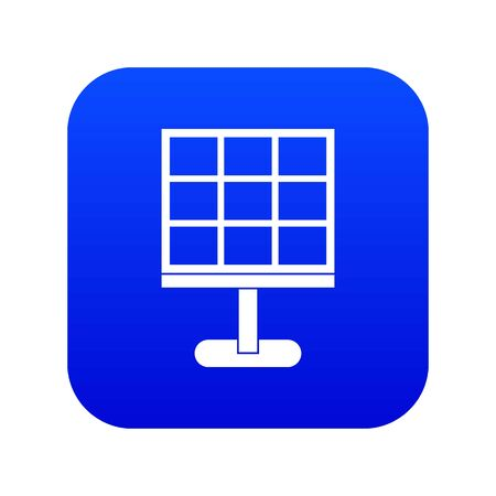 Solar battery icon digital blue for any design isolated on white vector illustration