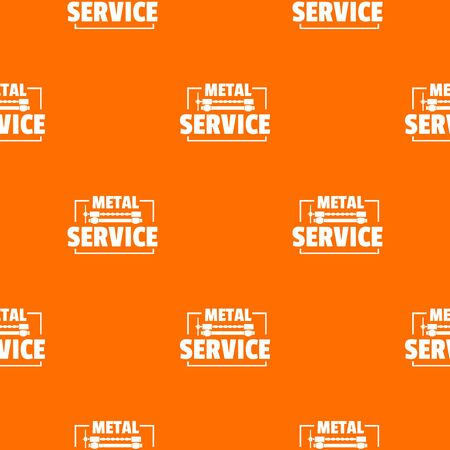 Craft service pattern vector orange Illustration