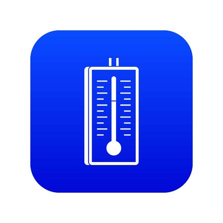 Thermometer icon digital blue
