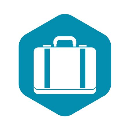 Suitcase icon in simple style on a white background vector illustration