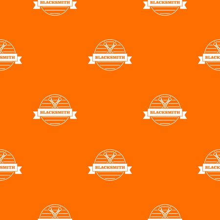 Hard blacksmith pattern vector orange Illustration