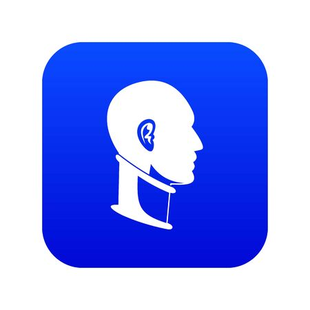 Cervical collar icon digital blue Illustration