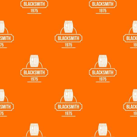 Blacksmith pattern vector orange
