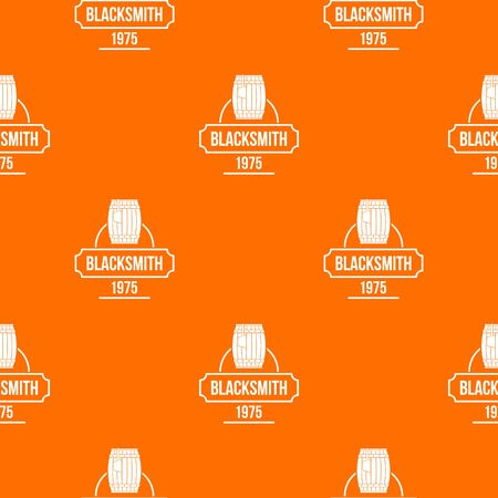 Blacksmith pattern vector orange Illustration