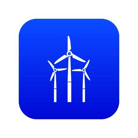 Windmill icon digital blue