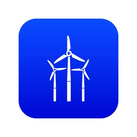Windmill icon digital blue